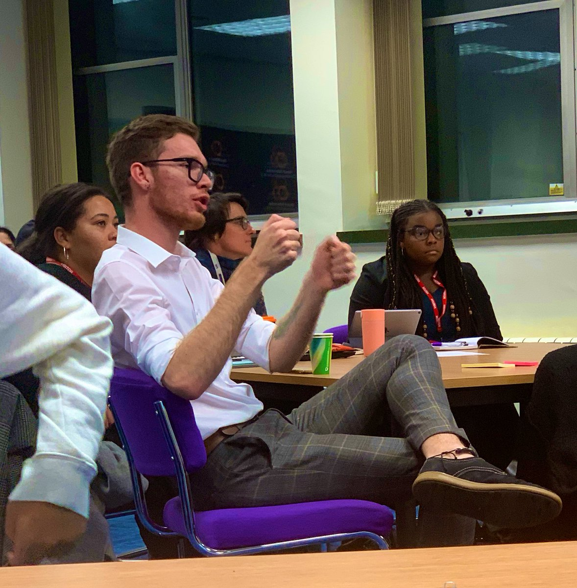 Having really interesting debates about the purpose of manifestos, accountability and who reads them 👀👀👀