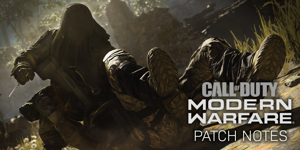 A patch is rolling out now across all platforms that fixes a few bugs. Full list of patch notes below!   https://www. reddit.com/r/modernwarfar e/comments/e9b0v5/121119_patch_notes/  … <br>http://pic.twitter.com/g513M529f7