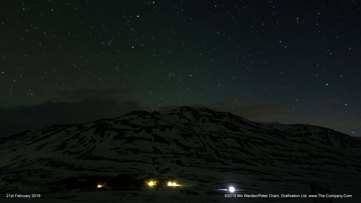 Starlight over Hjalteyri, and the outline of Kötlufjall (900m).February: Grýtubakkahreppur, north-east #Iceland.#EarthCapture@ThePhotoHour
