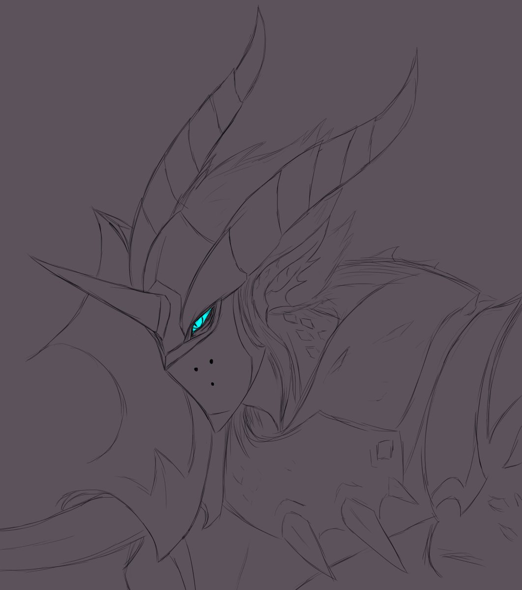 Quick Dragon Knight #Mordekaiser doodle since Spideraxe shared some sick splash art explorations. <br>http://pic.twitter.com/4f13UDu8fh