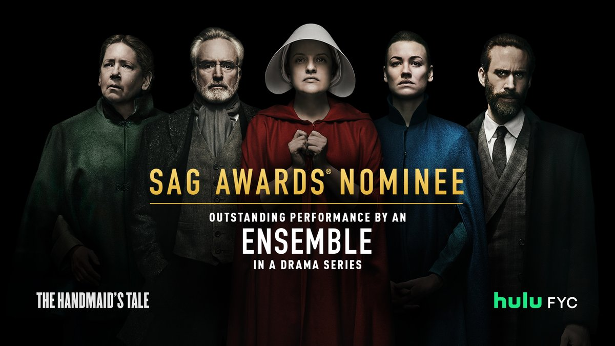 Praise be to the entire cast and crew of The #HandmaidsTale on their #SAGAwards nomination for Outstanding Performance by an Ensemble in a Drama Series 🙏