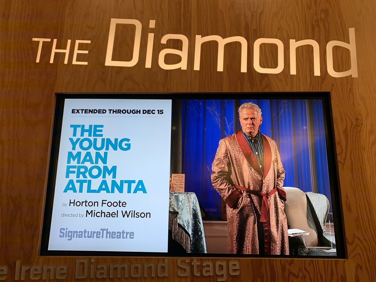 """Today's matinee: """"The Young Man From Atlanta,"""" at @SignatureTheatr"""