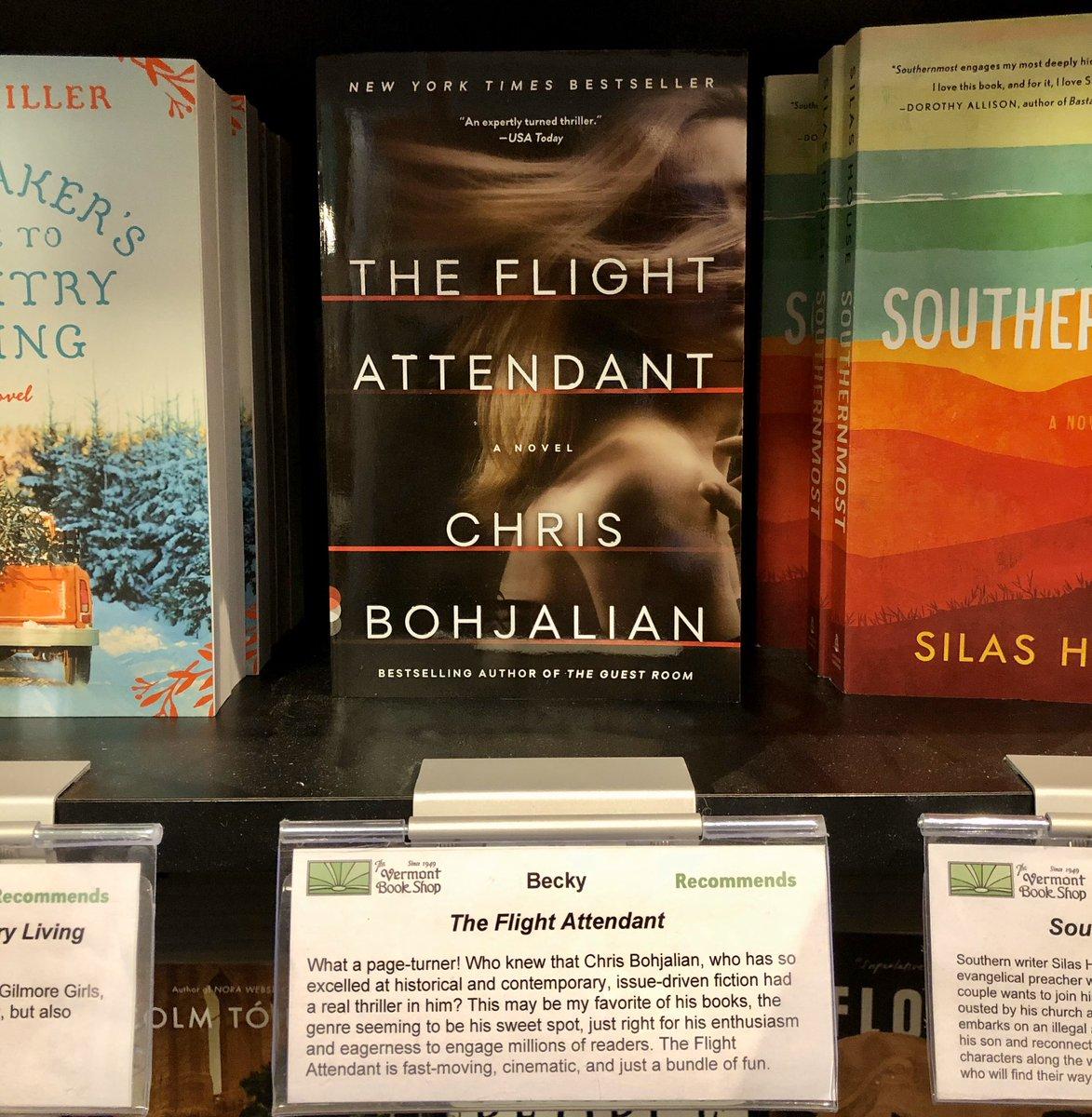 Spotted at the @vtbookshop. Thank YOU, @bookybeck ! @VintageAnchor #flightattendant