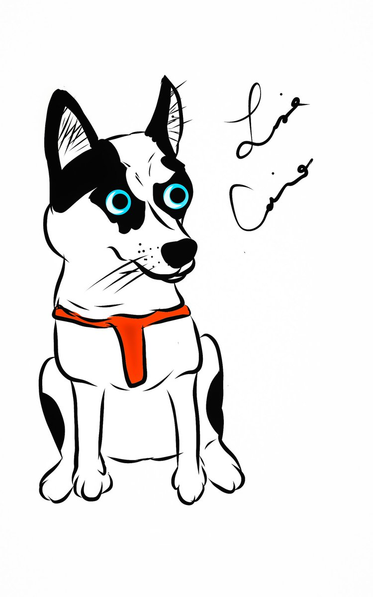 #dog #husky #cartoon #cartoons #cartoonist #draw #drawing #drawings #illustrate #illustrations #art #artist #artistic #digitalart #digitalartist #originalart