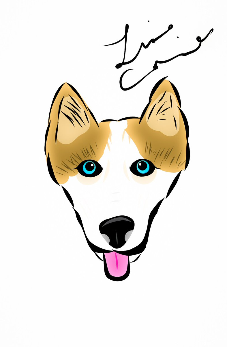 #husky #dog #dogdrawing #cartoon #cartoons #cartoonist #draw #drawing #drawings #illustrate #illustrations #art #artist #artistic #digitalart #digitalartist #originalart