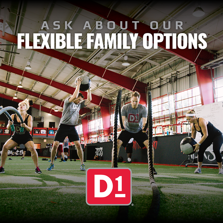 The #D1fference between D1 and other #training gyms starts with our dedication to offering something for the whole family. Stop into #D1 today and ask about our flexible #family options and #D1scover all that D1 has to offer.