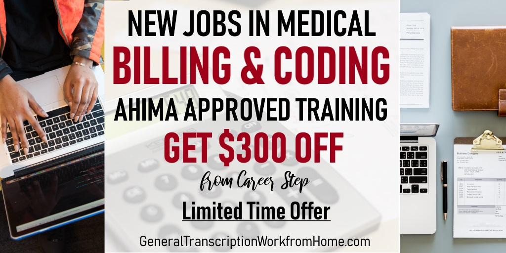 New Jobs in Medical Coding. $300 off from Career Step When Enrolling. Get the AHIMA Approved Training You need. #medicalbilling #medicalcoding  #aff https://bit.ly/2XcCFxF