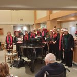 "Wonderful holiday entertainment today courtesy of the ""Jazza Gals"" - getting us into the festive spirit! #jazzagals #holidaymusic #augustinehouse #forbetterretirementliving"