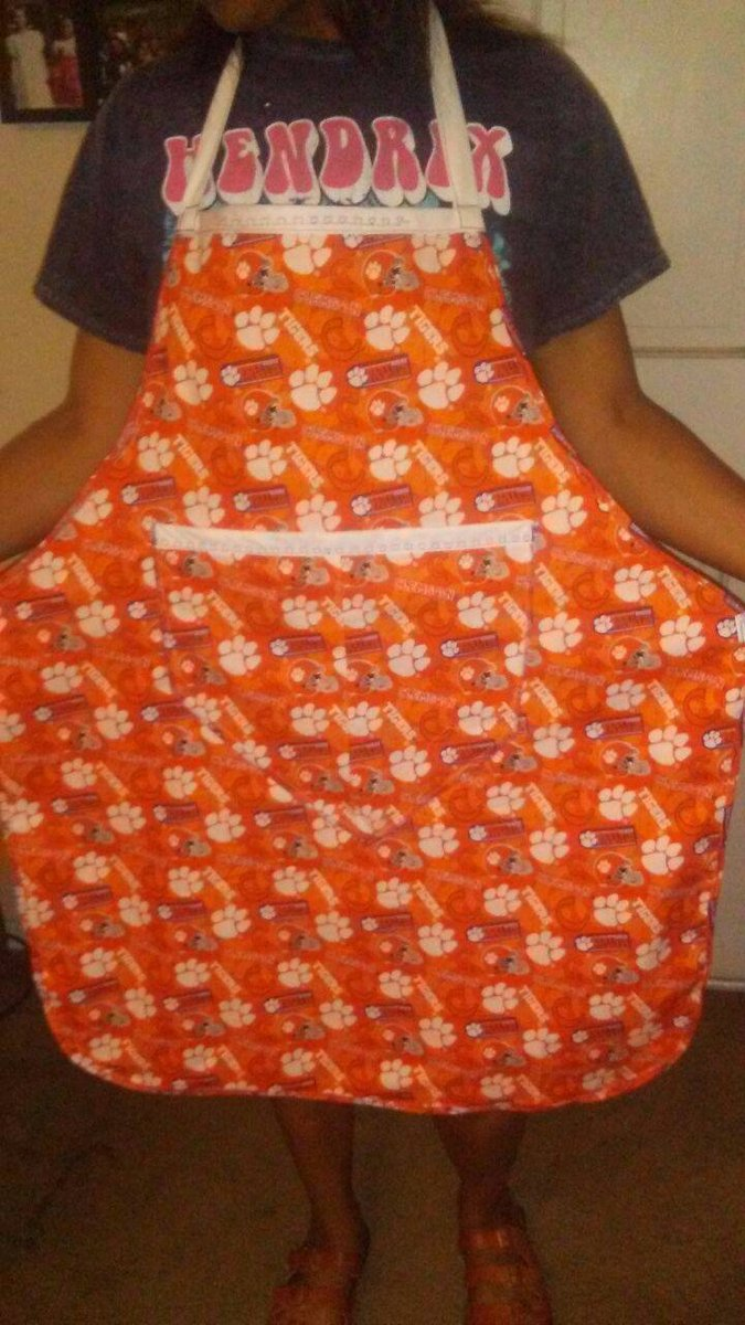 Excited to share the latest addition to my #etsy shop: Clemson Tiger's Grilling /Cooking Apron Embroidery Stitch on Every Pocket!  #housewares #clemson #tigers #orange #mancave #sports #men #wmen #gift