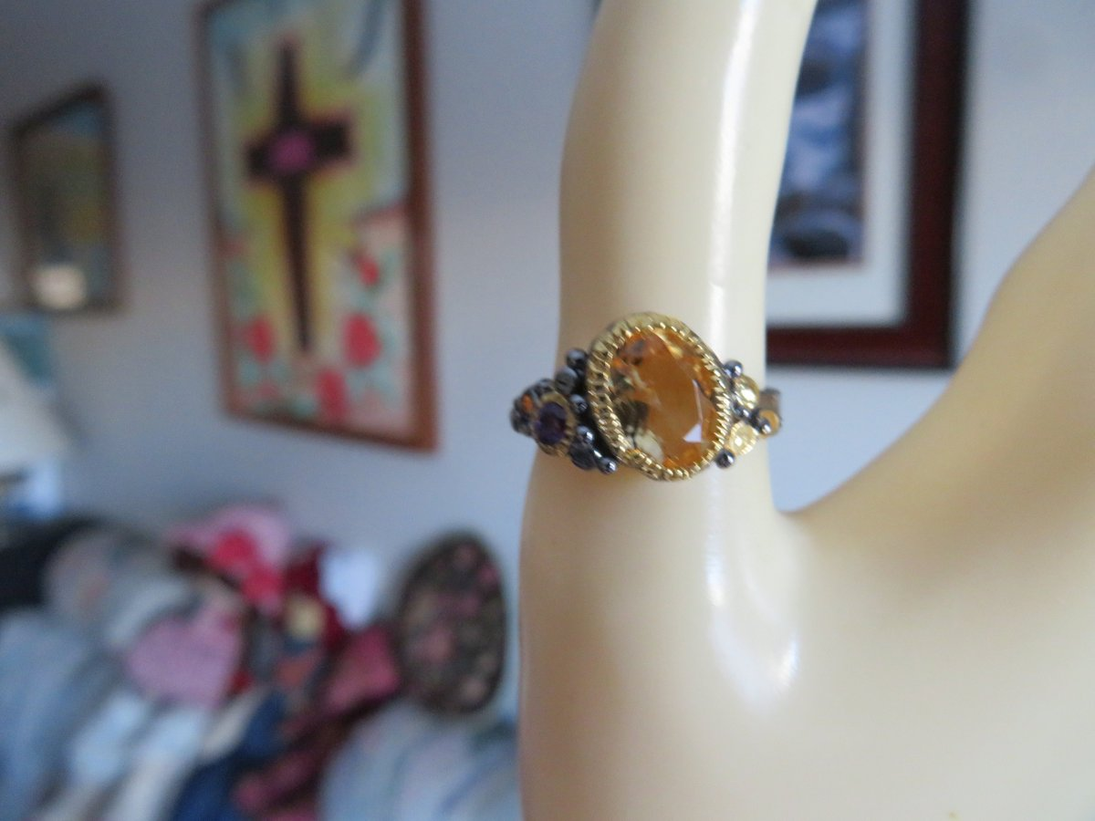 Excited to share the latest addition to my #etsy shop: Natural 9x7 17.30ctw  Citrine Handcrafted Deluxe Design 925 Sterling Silver Ring Size 7, Wt. 3.5 Grams  #jewelry #ring #silver #yes #women #yellow #citrine #oval #artnouveau