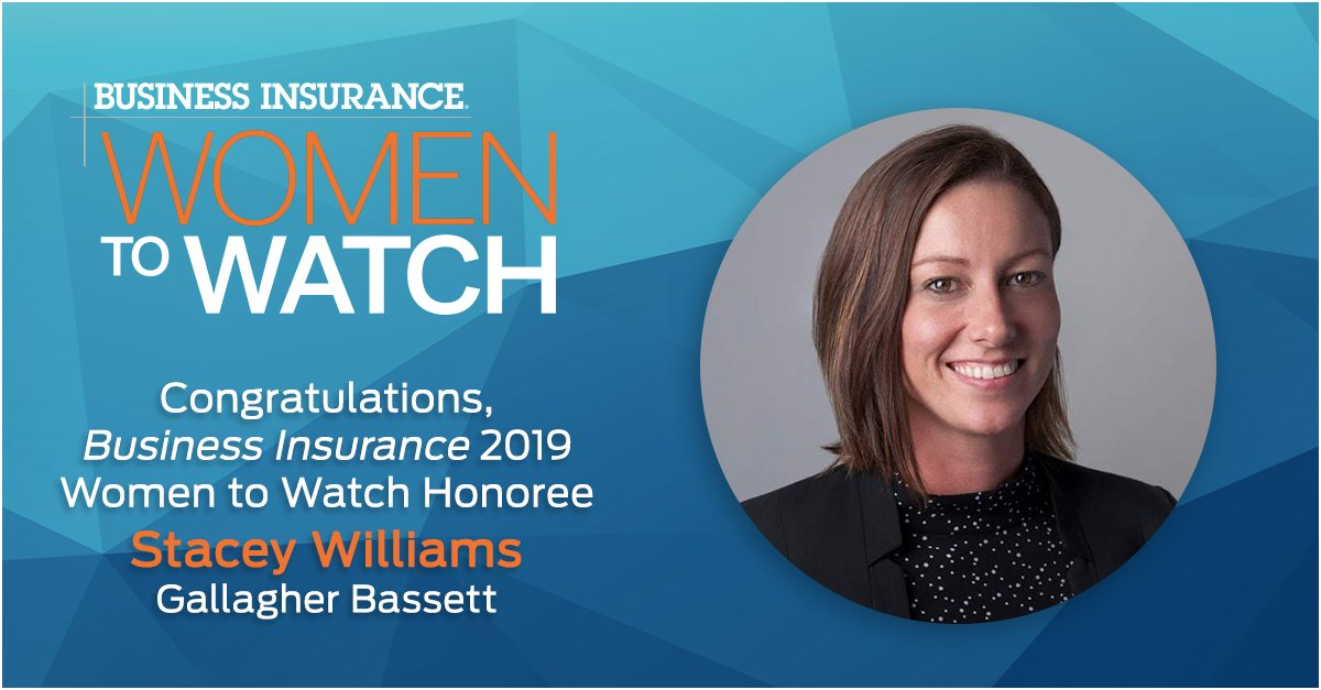 We are pleased to honor Stacey Williams, with @gbtpa, as a 2019 Woman to Watch. Click through and learn more about this #insurance leader. #BI_WomenToWatch bit.ly/35bywOg