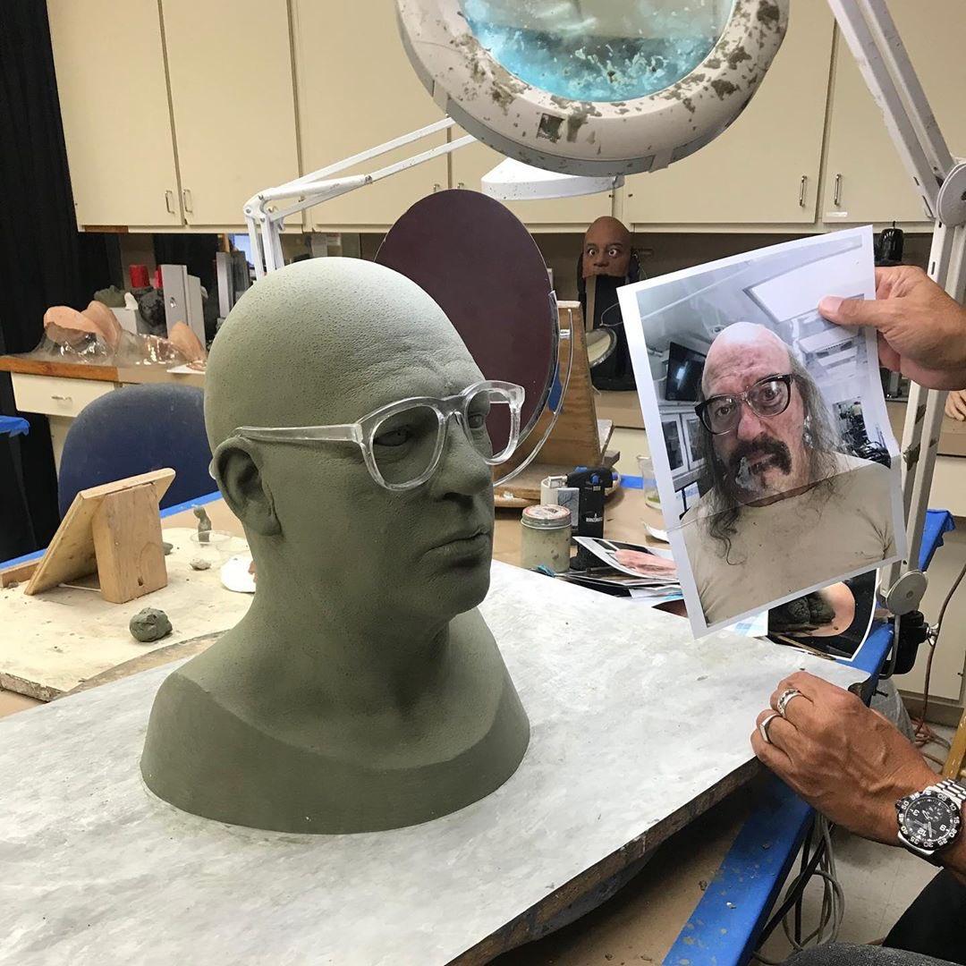 The Ahs Zone On Twitter John Carroll Lynch On The Set Of American Horror Story 1984 And A Behind The Scenes Look At The Mr Jingles Mask Designing Process Ahs Https T Co Nnsuscm5v6