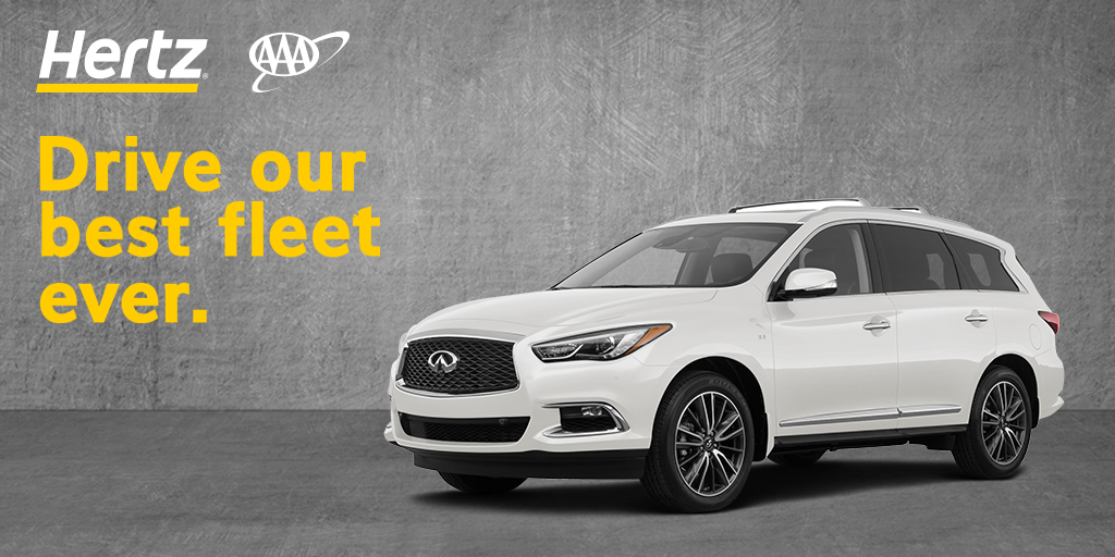 Use your #AAADiscounts and enjoy a limited-time offer of a free day when you rent for 3 days or more with @Hertz. Use your AAA CDP & PC# 205539 to book your rental at . Ends 12/11. Rent for 3 days, pay for 1 less. Taxes & fees excluded. Terms apply. #Hertz