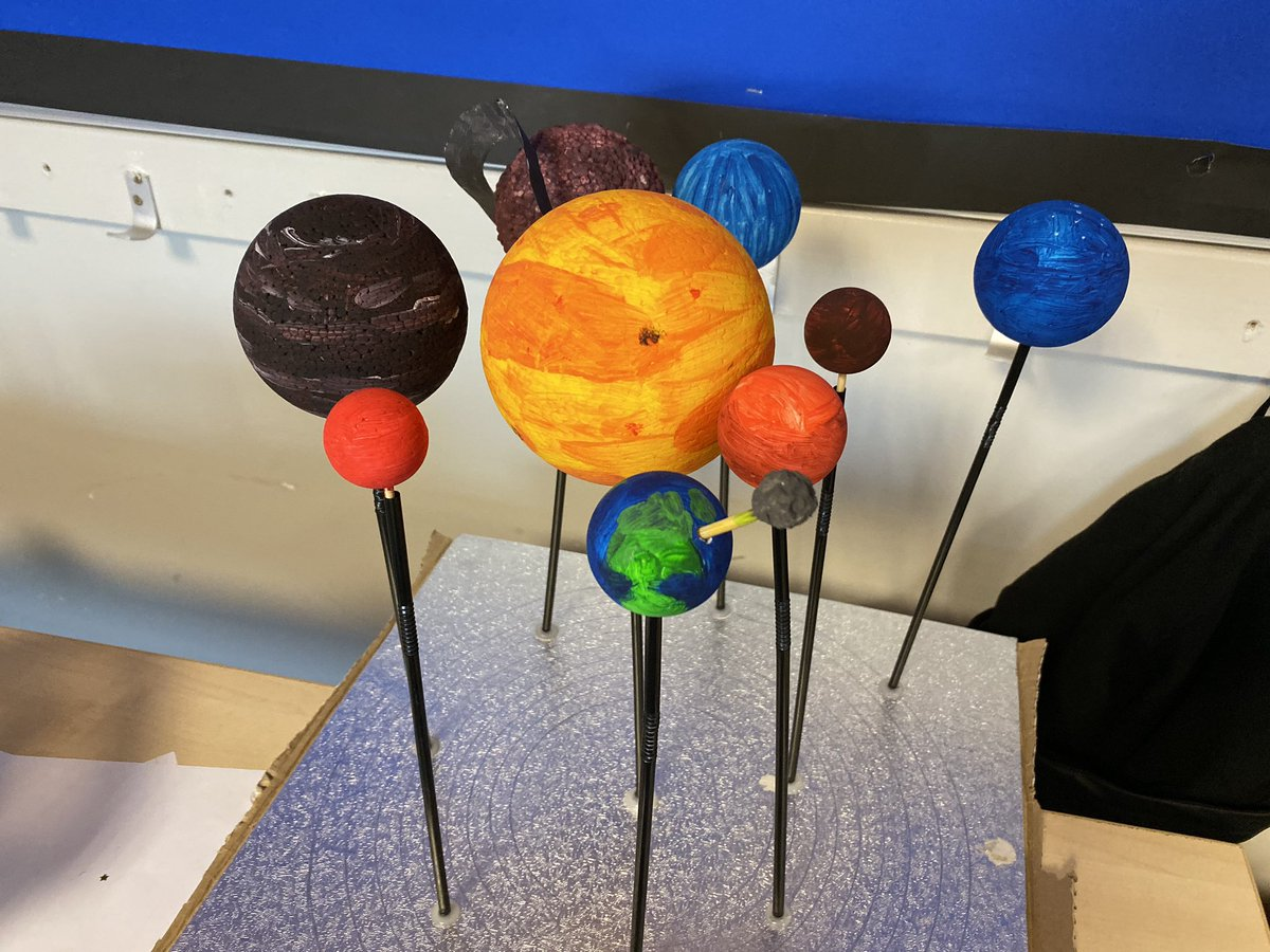 WORK OF THE WEEK: How incredible are these students! A huge well done to you all  #COREexcellence. Reach for the stars if you miss you'll land somewhere in one of those amazing solar systems! #COREpride