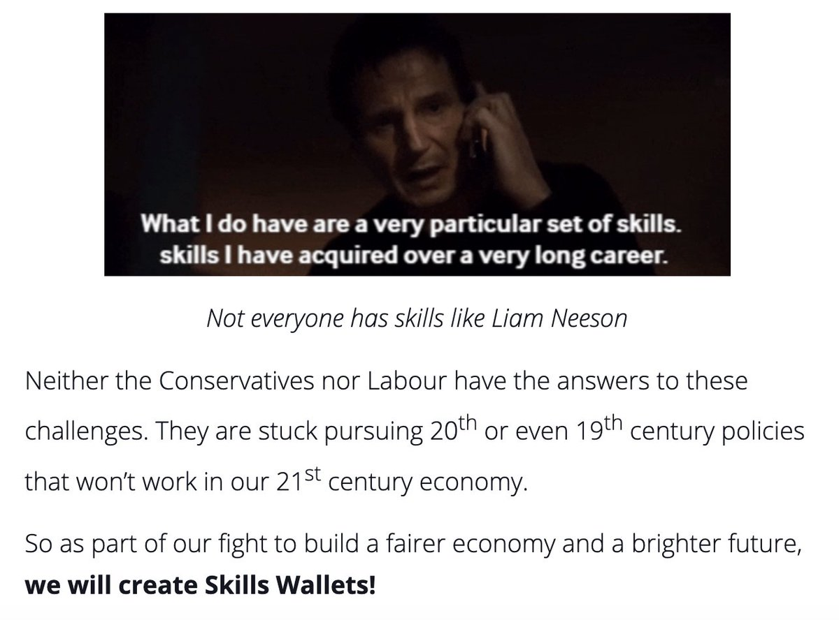 Checked out the Lib Dems explainer of what skills wallets are and I am howling