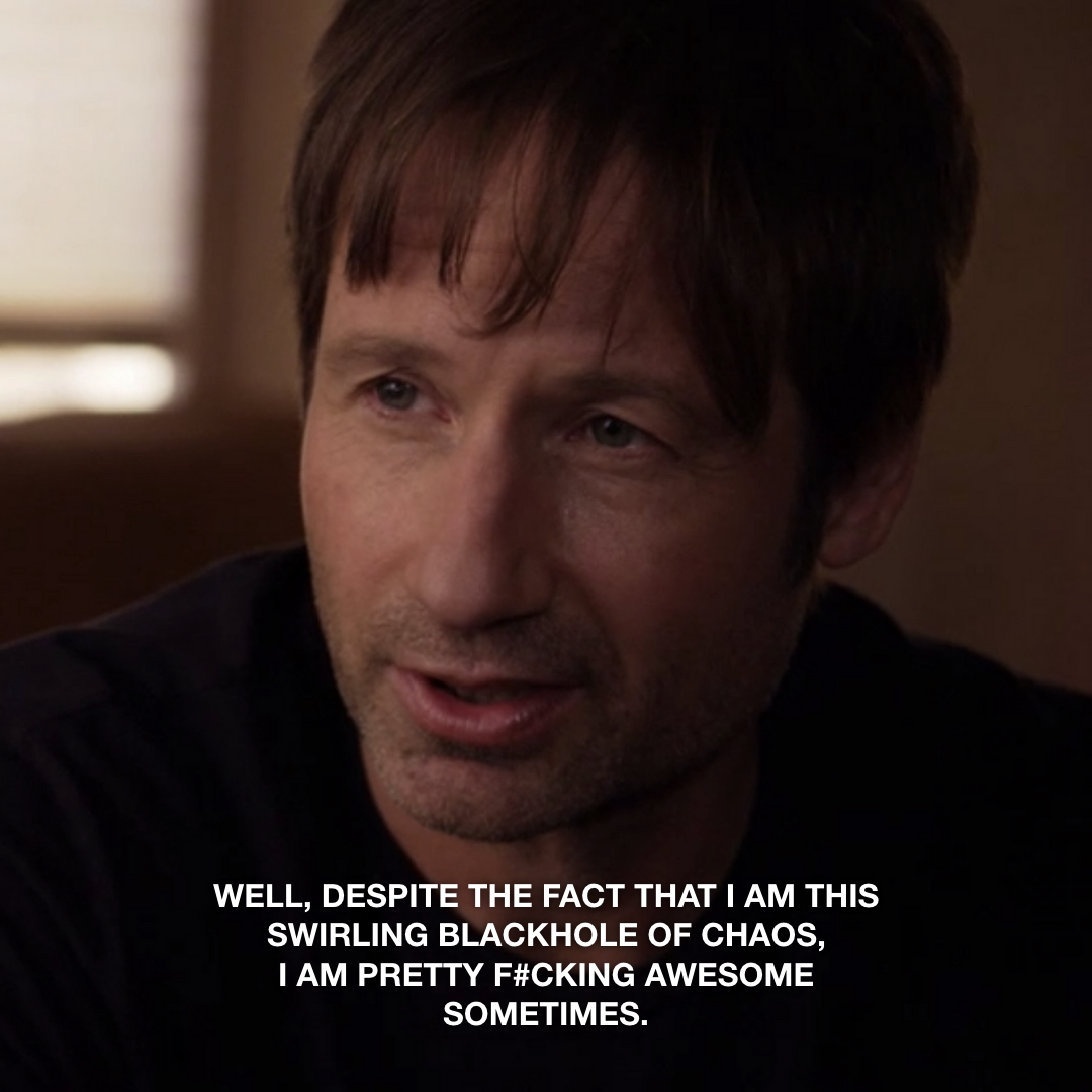 Those therapy sessions are paying off. #Californication