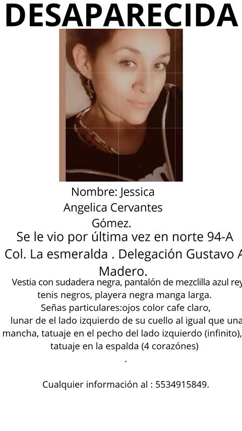 RT @El_Universal_Mx: Ayuda a Jessica Angelica Cervantes Gómez a regresar a su casa https://t.co/fvB7CMU98z