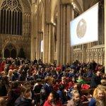 Image for the Tweet beginning: Awesome @AHSYork carol service @York_Minster