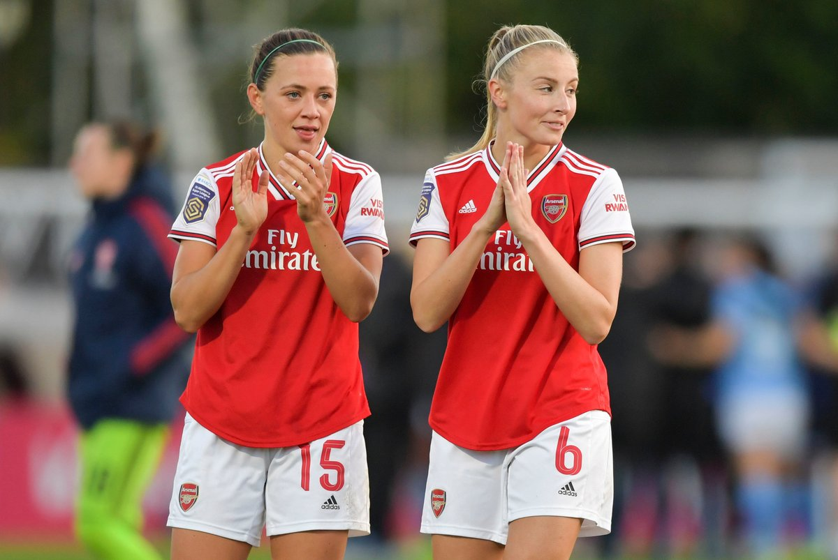 On cloud nine ☁️@Katie_McCabe11 grabbed a hat-trick taking @ArsenalWFC into the quarter finals 👉http://the-fa.com/2rvM6c
