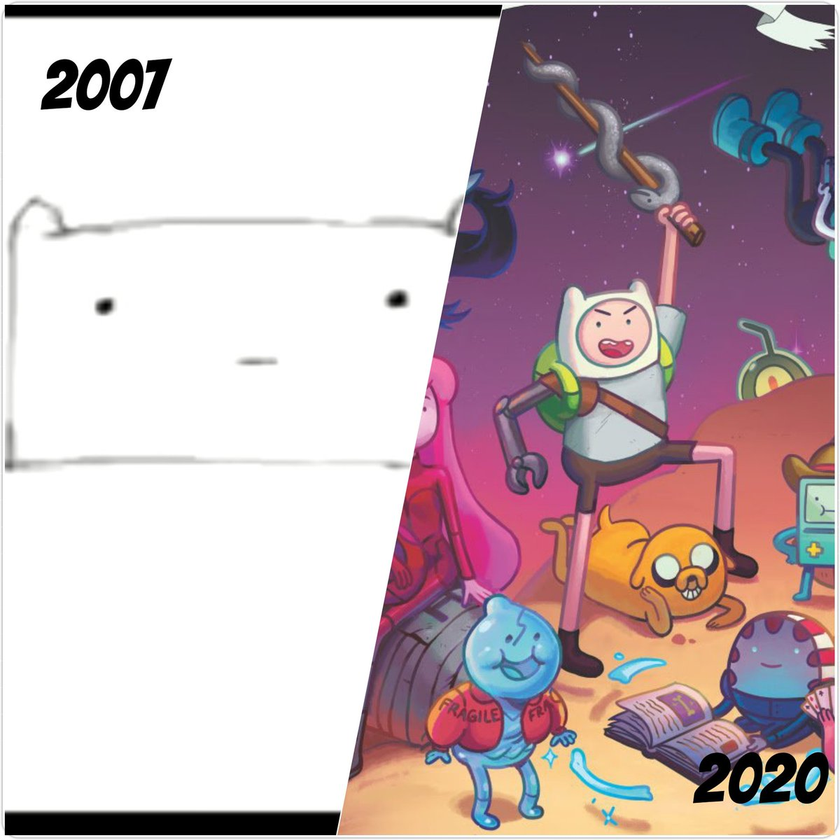 The Tribute Evolution of pendleton ward  2007-Since Creatores @buenothebear @BravestWarriors @adventuretimeUS #adventuretime #BravestWarriors Barrista:(2007) Adventure Time: Distant Lands:(2020)