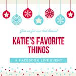 ❄️It's the most wonderful time of the year - it's time for our 3rd Annual Katie's Favorite Things Facebook Live event! Join us this Friday, 12/13 on our FB Business Page: https://t.co/97Vbkee7kz #favoritethings #facebooklive