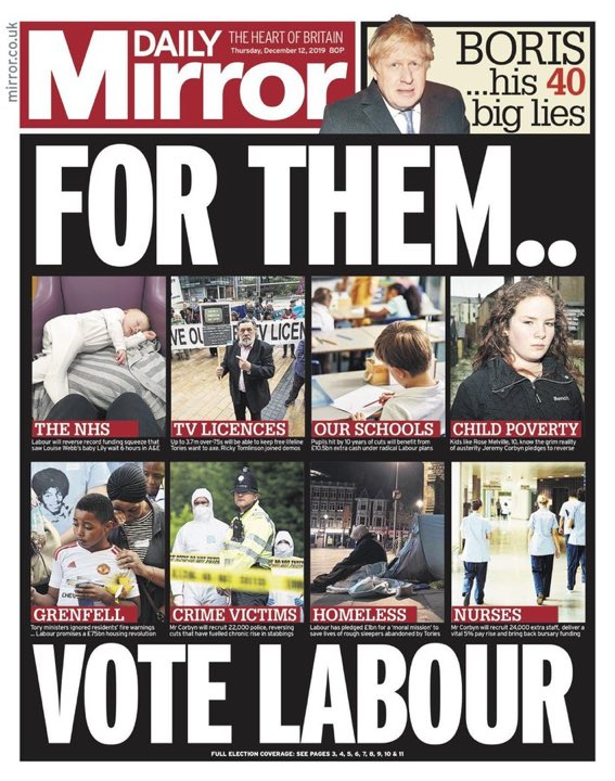 For your neighbourhood. For your kids. For your grandparents. For your colleagues. For your teachers. For your doctor. For your country. For yourself. #VoteLabour