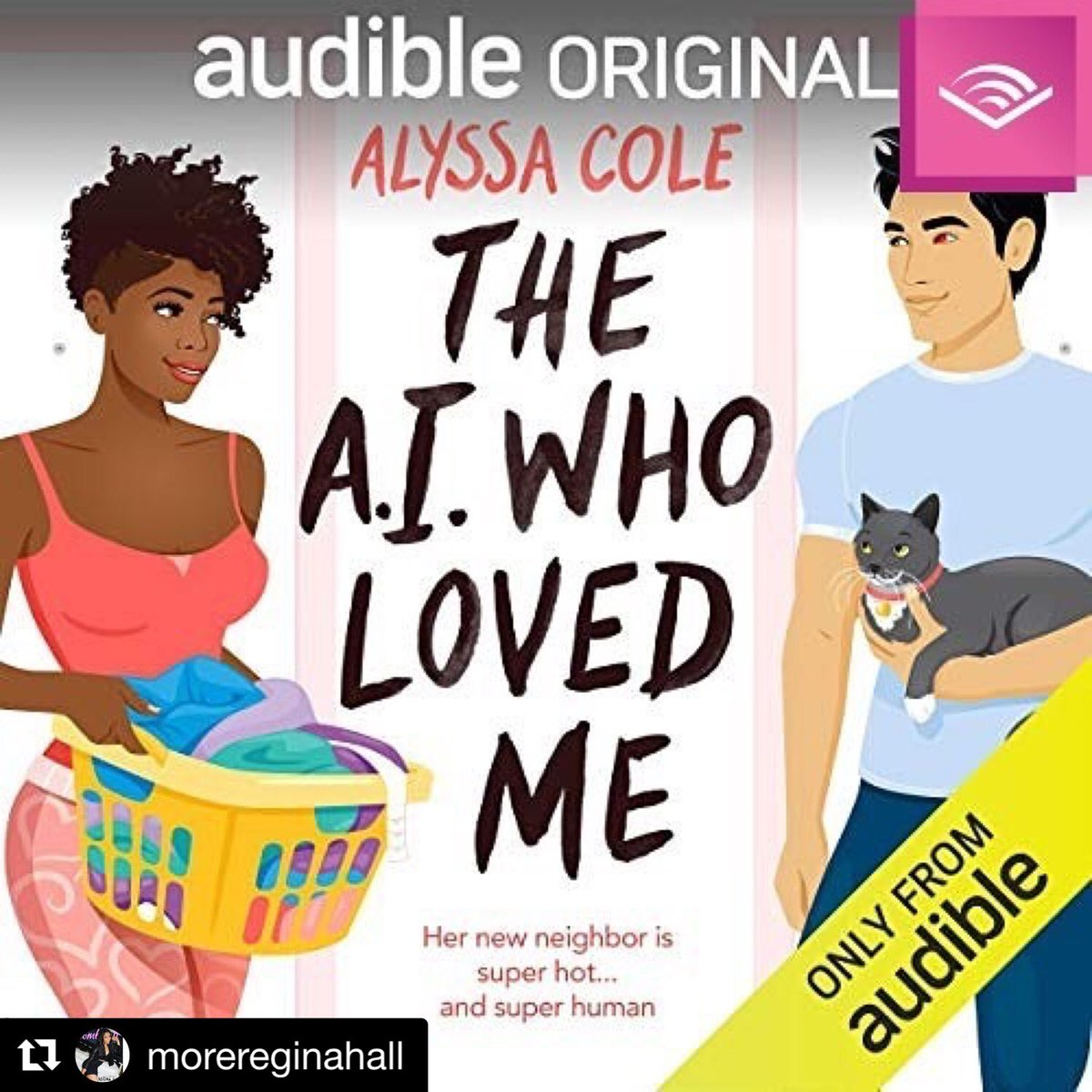 An honor & a pleasure to be included in the cast of @audible_com's BEST ROM COM OF 2019: THE A.I. WHO LOVED ME by @AlyssaColeLit! Featuring the voice talents of @MoreReginaHall, @mindykaling, & yours truly. Check it out! #HearTheYear #AudibleEscape #Audiobooks #KingOfVO #Grateful