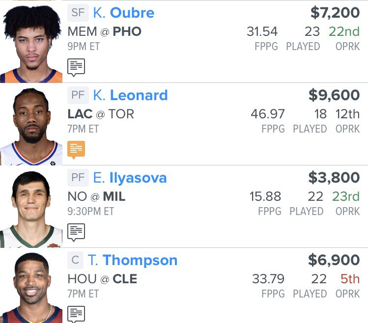 Here is my NBA 🏀 daily fantasy 💰 lineup for tonight.  I'll be coming up at 6:40pm EST on @NBATV with my OG @RoParrish