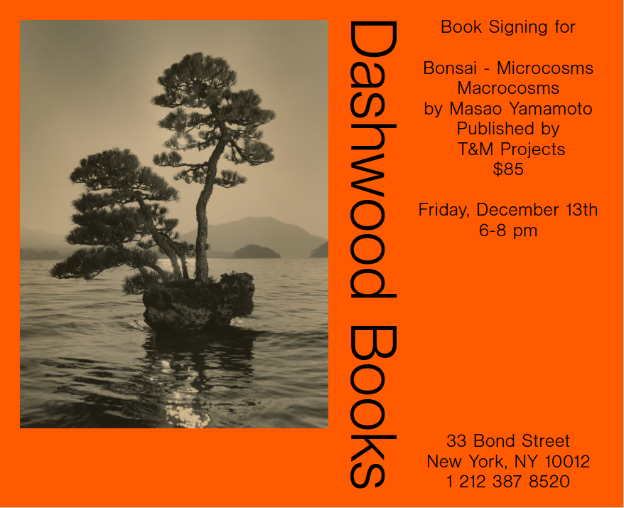 Please join us on Friday December 13th from 6-8pm for a book signing with Masao Yamamoto.