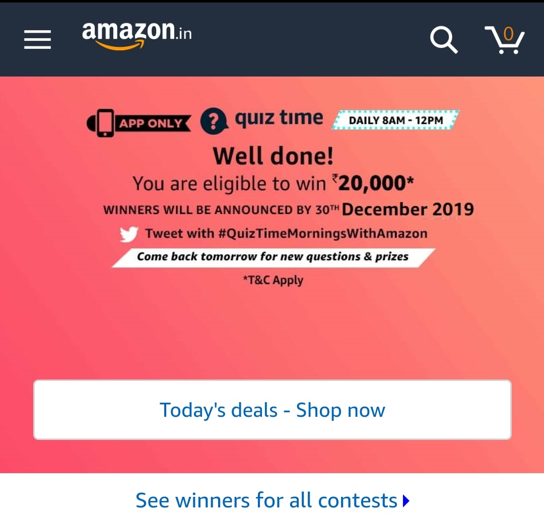 Done for today questions #Quiztimemorningswithamazon<br>http://pic.twitter.com/v4FWaGrdQ0
