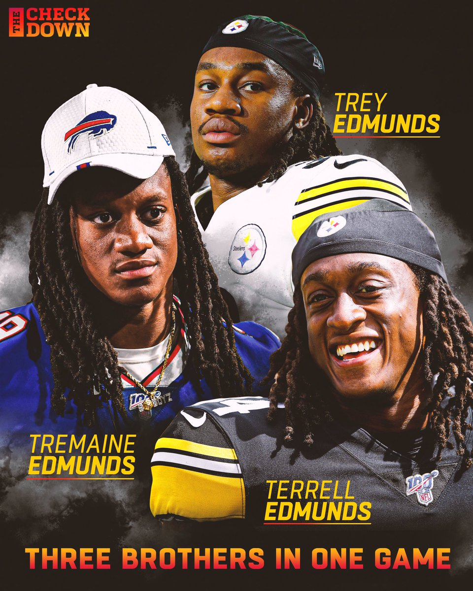 From playing in the backyard to NFL primetime...   The Edmunds brothers are about to make history. 💯🙏 @rell_island6 @maine_savage23 @BuffaloBills @steelers