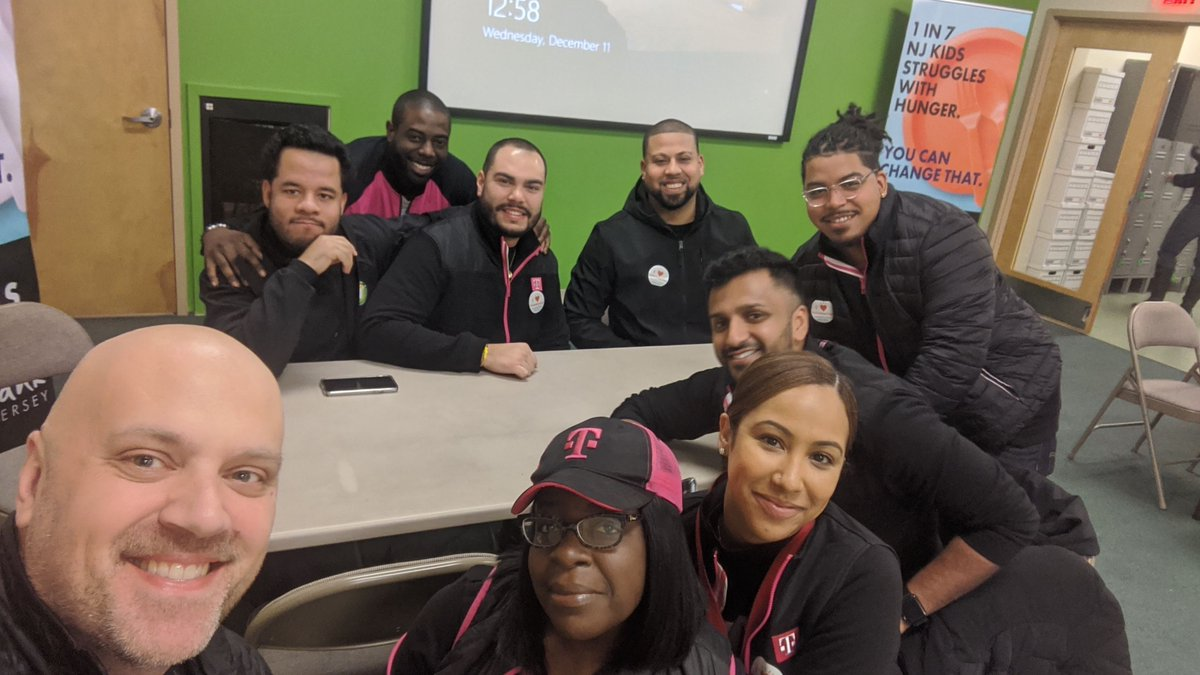 Wow. What a day! Extremely humbled by the opportunity to support the Community Food Bank of NJ  AND to do it with such an amazing group of people. CFBNJ does such incredible work  #NJE #givingback  #Nerules $1= 3 meals<br>http://pic.twitter.com/8ChbqJ4Xc9