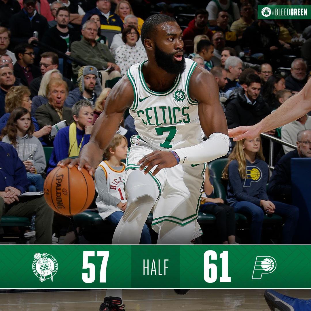 2 quarters down, 2 to go #BleedGreen  Stream the 2nd half: http://bit.ly/CelticsStream