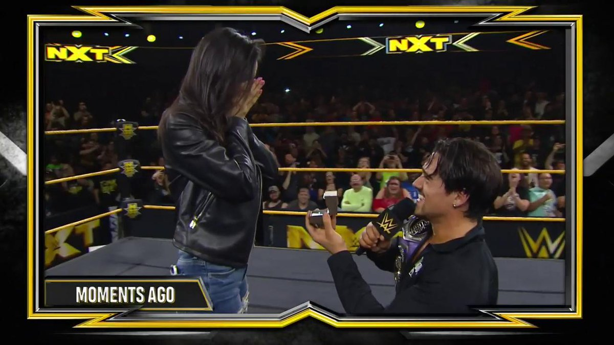 Angel Garza Gets Engaged In The Ring At WWE NXT