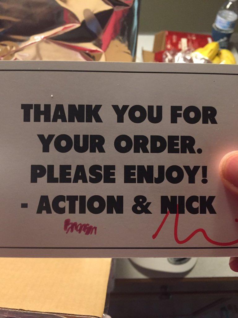 Thank you, @ActionBronson 🙏🏽👌🏽
