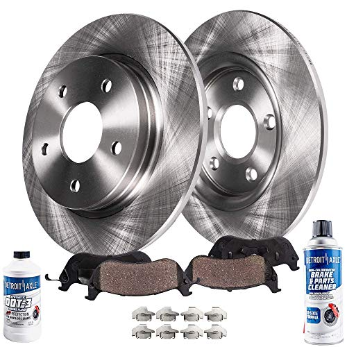 Fusion Rear Slotted Brake Rotors+Ceramic Pads Ford MKZ For 2013-2017 Lincoln