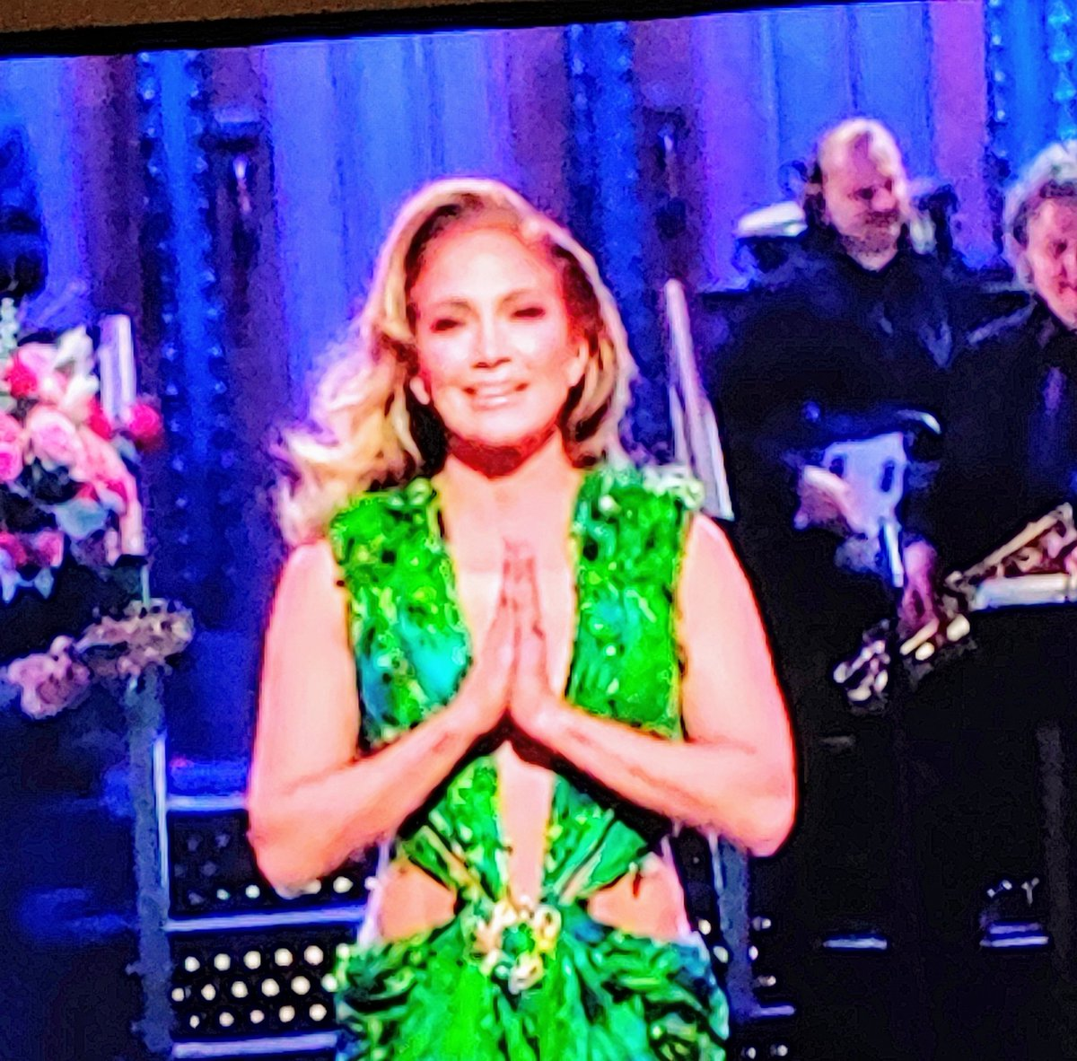 Holy crap, if JLo can look this good at 50, maybe 35 won't be too bad! #SNL #Hulu #JLo