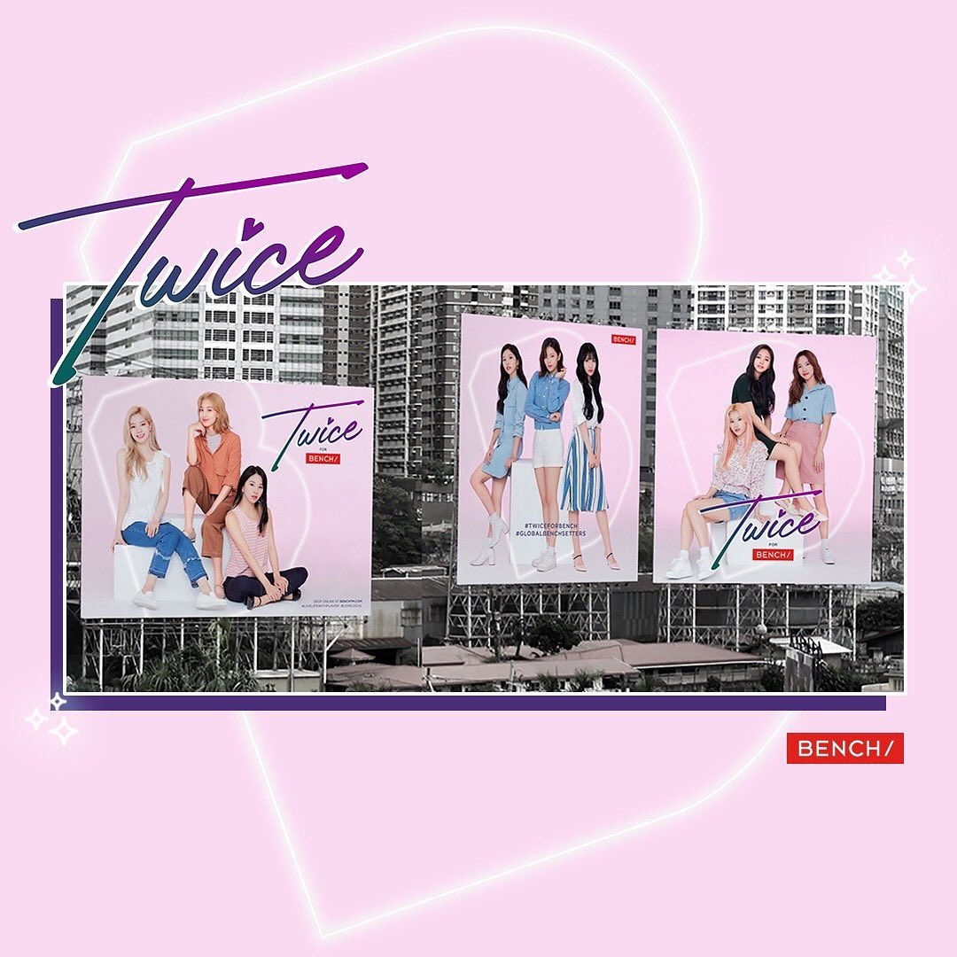 TWICE for BENCH promotional banners   #TWICE #TWICExBENCH #TWICEforBENCH  https://www. instagram.com/p/B59IBizh4ZZ/ ?igshid=11bss1zl80rdz  … <br>http://pic.twitter.com/C3GTCnKTEI