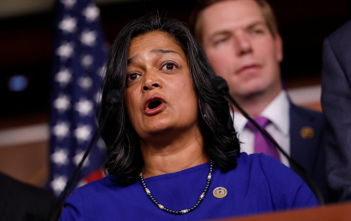 """""""I will vote to impeach Donald Trump...  it is a vote for the Constitution and for We the People. Because America is so deeply worth it."""" @RepJayapal  #ImpeachmentDebate<br>http://pic.twitter.com/wQzAoW386t"""