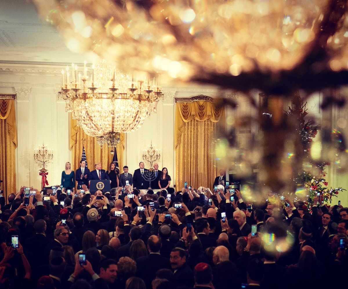 Today we celebrated the miracle of #Hanukkah  at the @WhiteHouse . Wishing everyone a blessed and happy holiday!