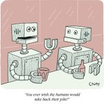 Robot unhappy hour.By @tomchitty with @collectcartoons https://t.co/h6gI9SCaoU