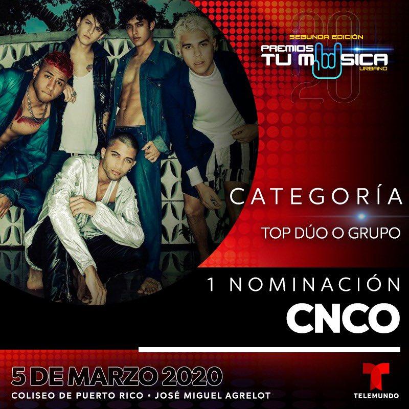 GRACIAS a @premiostumusic1 @Telemundo #CNCOwners!! 🙌🏼💯