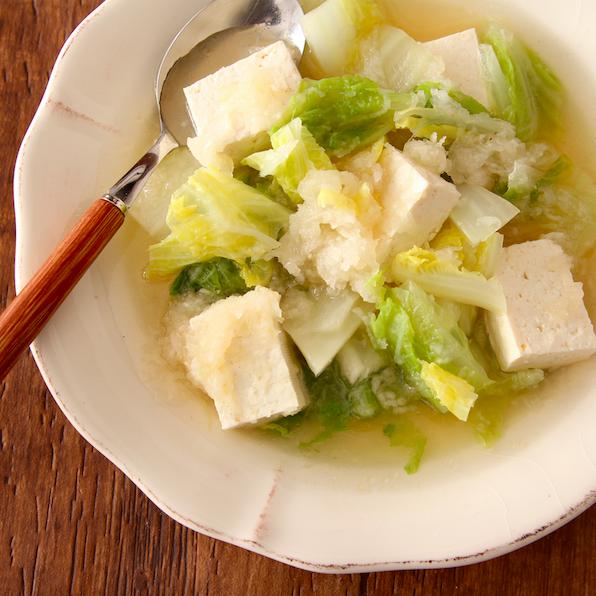 レンジで【白菜のみぞれスープ】年末に向けて胃腸労っとこって時におすすめです