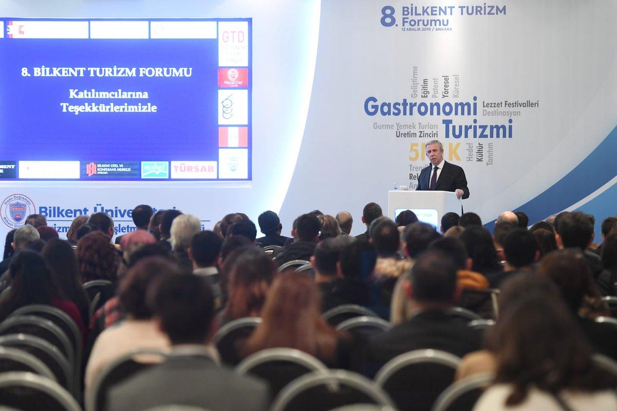 8. Bilkent Turizm Forumuna katıldık.  Ankaramızın kendine özgü, yöresel ve unutulmaya yüz tutan lezzetlerinin uluslararası arenada tanıtımını çok önemsiyoruz.   Büyük bir kültür ve gastronomi hazinesine sahip başkentimizi bu alanda da turizmin öncüsü haline getireceğiz.