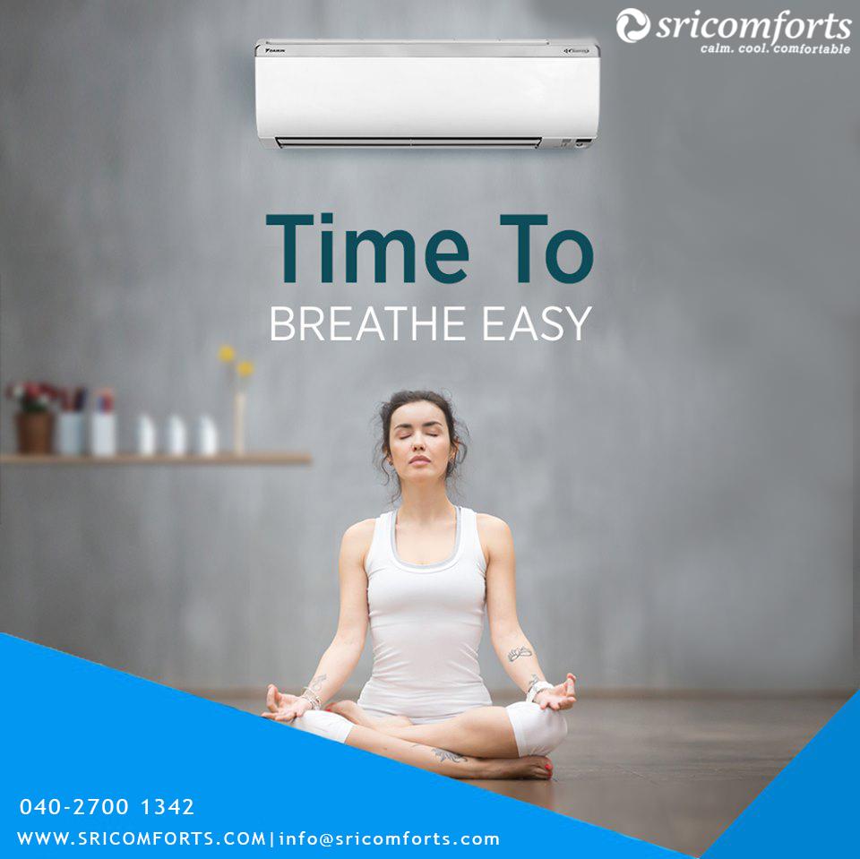 Time to Breath Easy..!!  #sricomforts  #daikin  #authorised  #dealer