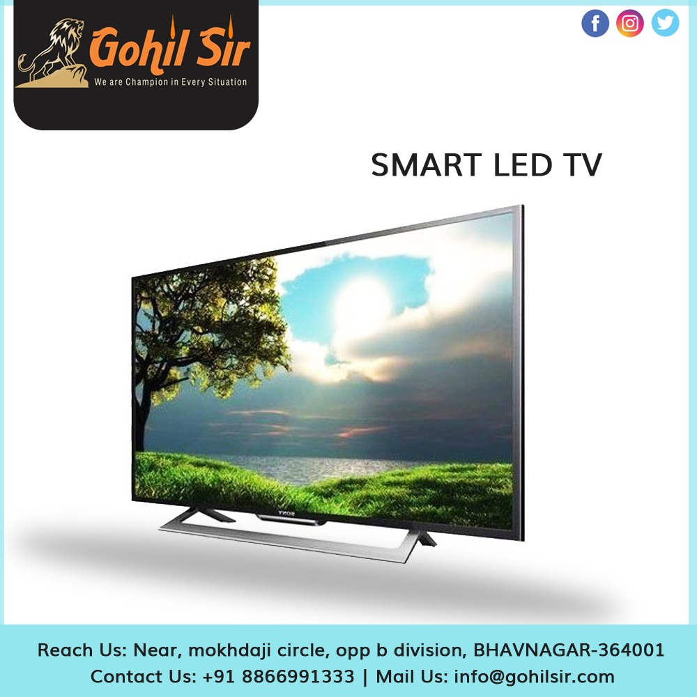SMART LED TV Product Description :  Full High Definition  Gorgeous Visuals  Loud and clear sound  Easy Connectivity  Call Us: +91 88669 91333 Mail Us: info@gohilsir.com  @gohilsirbusiness #smarttv#marketing #whatsapp#beautyproduct #cleaningproducts #gohilsirbusinesspic.twitter.com/5Bqi8jK0yK