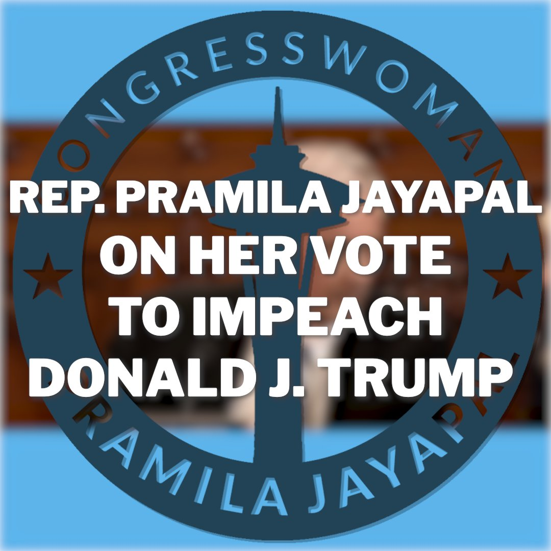 """I will vote for Articles of Impeachment against President Donald Trump.   My vote to impeach will not be a vote against any person. It will be a vote for the Constitution and for """"We, the People.""""  Because America is so deeply worth it."""