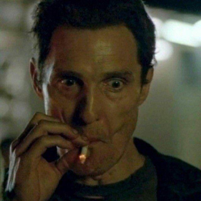 "reactions on Twitter: ""matthew mcconaughey smoking cigarettes… """