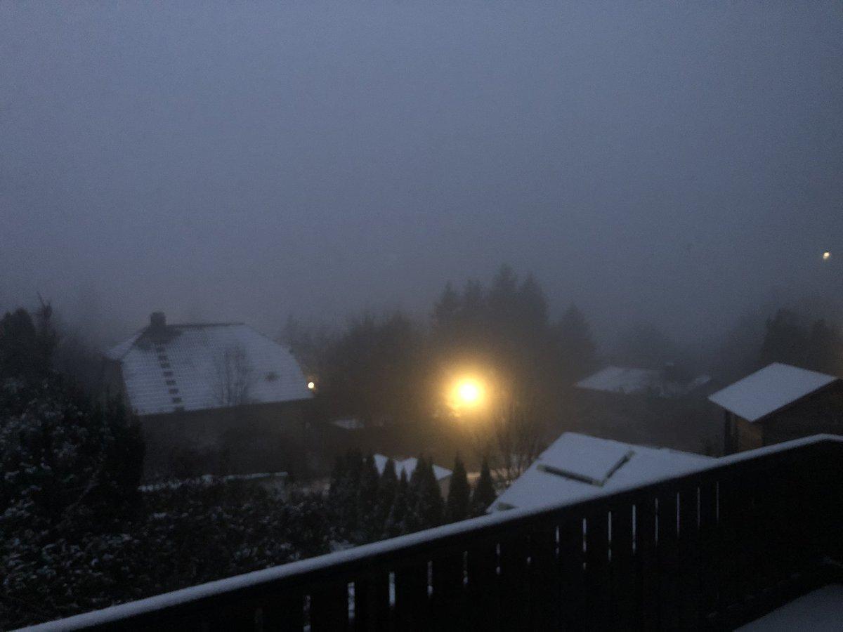 Der Donnerstag gibt sich neblig und kalt, die Landschaft ist weiß gepudert. Die Straßen sind frei. Guten Morgen, kommt gut in den Wachzustand und dann auch in den Tag. Auch ein trüber Tag hat seine Möglichkeiten, die erkannt und genutzt werden sollten.pic.twitter.com/29CxTqMj74