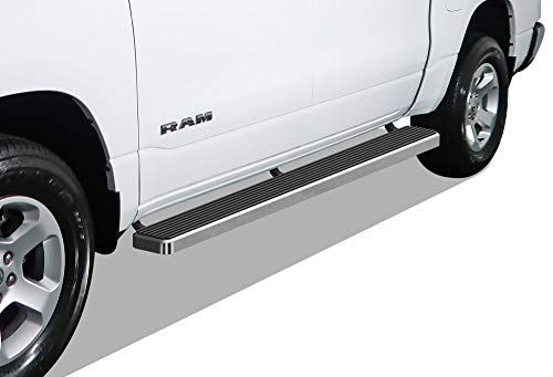 APS #IBoard (304 #Stainless #Steel #Polished #Silver 6 #Inches) #Running #Boards #Nerf #Bars #Steps #Compatible with #2019-2020 Ram #1500 #Crew Cab #Pickup 4Dr (Will Not Fit #2018 #Previous #Generation #Build in #2019) - .  #20192020
